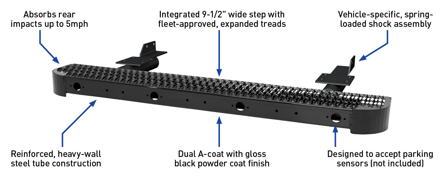 Impact Rear Van Bumper Step Features & Benefits