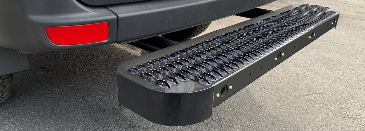 Impact Steel Bumper Step for Cargo Vans
